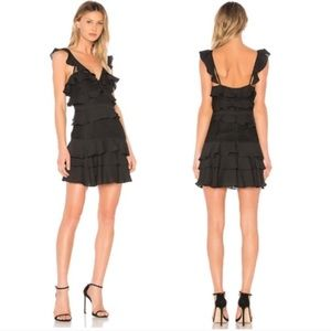 Bardot Revolve Babylon Black Medium 8 ruffle dress